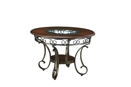 Ashley Glambrey Brown Round Dining Room Table