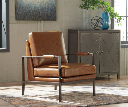 Ashley Puckman Brown Silver Finish Accent Chair On Sale At