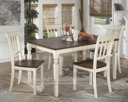 Ashley Whitesburg 5 Pc. Rectangular Dining Room Table & 4 Side Chairs