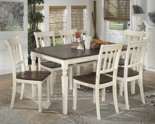 Ashley Whitesburg 7 Pc. Rectangular Dining Room Table & 6 Side Chairs