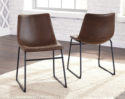 Ashley Centiar Brown/Black Dining Upholstered Side Chair(Set of 2)