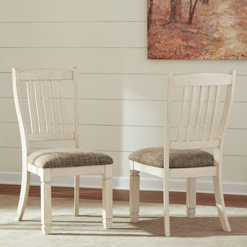 Ashley Bolanburg Two-tone Dining Upholstered Side Chair(Set of 2)
