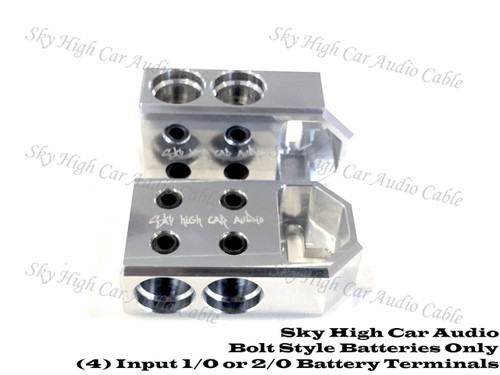 SHCA Products - Machine Battery Terminals - Aluminum - O'Brien Car Audio