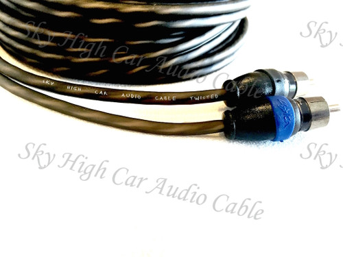 Sky High Car Audio Twisted 2-Channel Twisted RCA 1.5ft-20ft