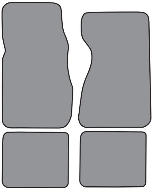 FITS 1990-1993 Honda Accord Floor Mat 4pc Cutpile