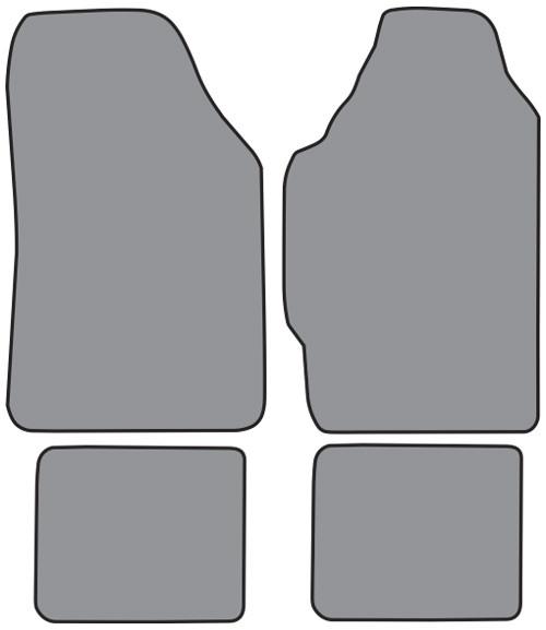 1986-1989 Acura Integra 2DR Floor Mat 4pc Cutpile (AC493F, FM18R)