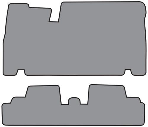 1967-1970 Cadillac Eldorado 1pc Frt & 1pc Rr Floor Mat 2pc Loop (FM63, FM63R)