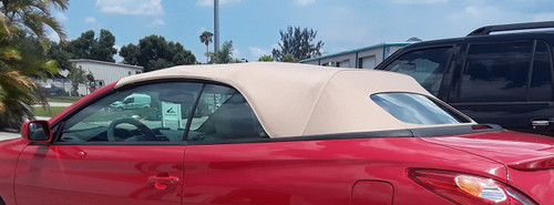Convertible Top in Tan Canvas with Heated Glass Window 2004-09 Solara
