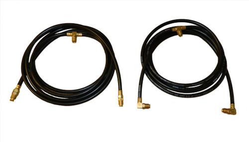 Upper and lower hydraulic hose set Fittings attached Made in USA