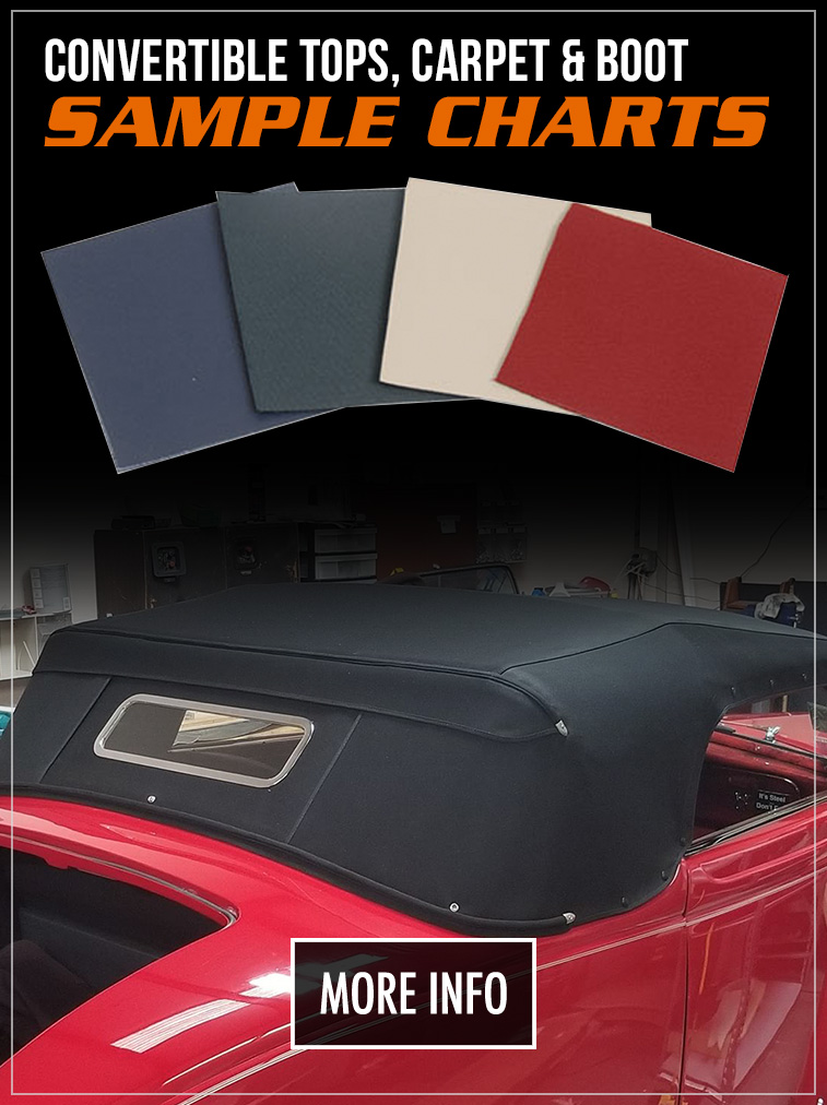 Convertible Top, Carpet & Interior Color Charts