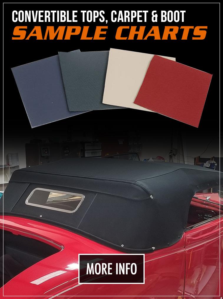 Convertible Top, Carpet & Interior Color Charts