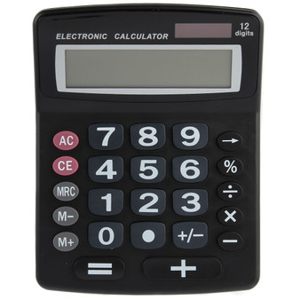 Lily's Home Jumbo 12-Digit Desktop Calculator - Black