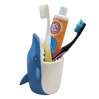 Lily's Home Fun Kids Animal Toothbrush Holder, Bathroom Organizer, Pencil Cup - Shark
