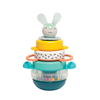 Taf Toys Hunny Bunny Baby Stacker – 5 Pieces Captivating Stacker Rings and a Friendly Bunny Character – BPA Free Developmental Toddler Toy