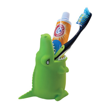 Lily's Home Fun Kids Animal Toothbrush Holder, Bathroom Organizer, Pencil Cup - Crocodile