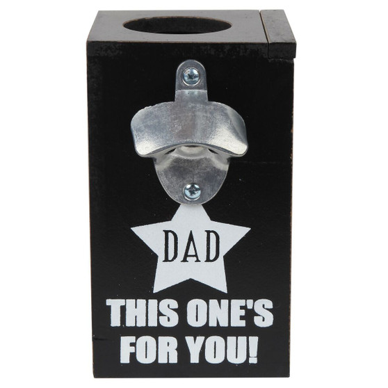 Lily's Home Hilarious Beer Cap Opener with Shadow Box Caps Holder, Dad This One's for You!, Makes the Ideal Gift for the Happy Beer Lover, A Great Father's Day and Christmas Gift for Him