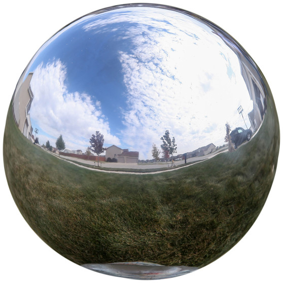 Lily's Home Gazing Globe Mirror Ball in Silver Stainless Steel - 12 Inch