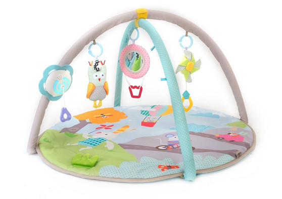 Taf Toys Baby Play Gym | Thickly Padded Soft Play Mat, Portable, Lightweight, Car Seat/Cot Attachable Multi-Sensory Hanging Toys with Colorful Lights and Sounds, Detachable Arches, Ideal Gift