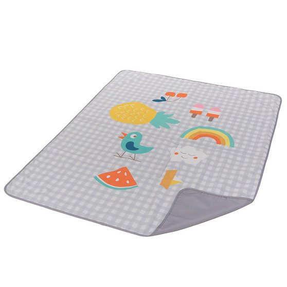 Taf Toys Outdoors Play Mat   Perfect for New Born & Toddlers, Easier Outdoors and Easier Parenting, Colorfull Illustrations, Large Size, Extra Soft, Water-Proof Base, Washable, Foldable to Carry