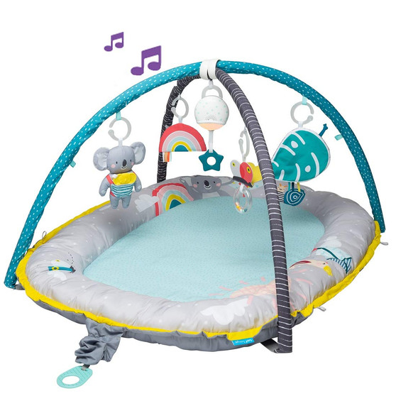 Taf Toys 4 in 1 Baby Play Mat and Infant Activity Gym with Music & Light. Thickly Padded Koala Cozy Gym | Baby nest and Entertainment Center, for Easier Development and Easier Parenting