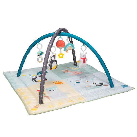 Taf Toys North Pole 4 Seasons Baby Play Mat and Infant Activity Gym with Music & Light. Thickly Padded Developmental Playmat, for Newborns and up. Designed to Encourage Baby's Senses Development