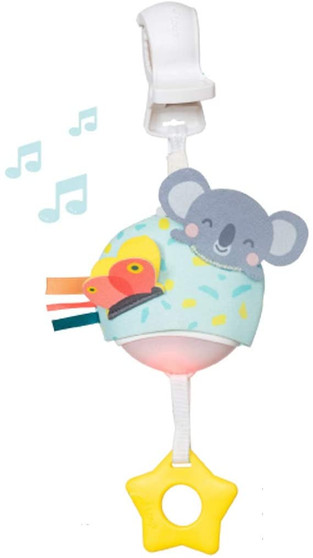 Taf Toys Musical Koala, On-The-Go Pull Down Hanging Music and Lights Infant Toy | Parent and Baby's Travel Companion, Soothe Baby, Keeps Baby Relaxed While Strolling, for Newborns and Up