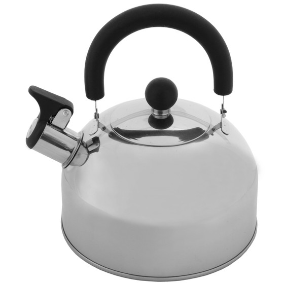 Lily's Home 2 Quart Stainless Steel Whistling Tea Kettle, the Perfect Stovetop Tea and Water Boilers for Your Home, Dorm, Condo or Apartment.