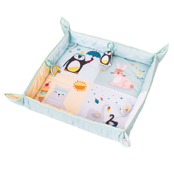 Taf Toys North Pole 4 Seasons Baby Activity Mat | with Raised Side Panels for Easier Development and Easier Parenting, Extra Padded, Soft, Cozy & Safe Fabric