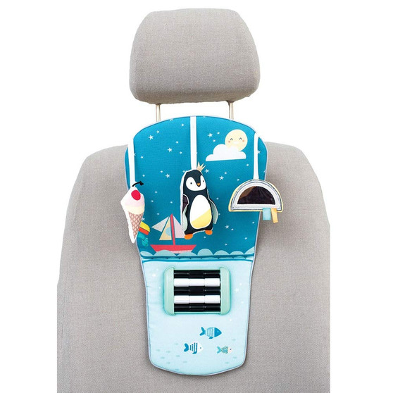 Taf Toys North Pole Feet Fun Infant Car Toy Travel Activity Center for Rear Facing Baby   Parent and Baby's Travel Companion, Keeps Both Relaxed While Driving