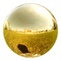 Lily's Home Stainless Steel Gazing Globe Mirror Ball, Colorful and Shiny Addition to Any Garden or Home. Shiny Gold. 10 Inch