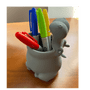 Lily's Home Fun Kids Animal Toothbrush Holder, Bathroom Organizer, Pencil Cup - Hippo