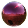"""Lily's Home Stainless Steel Gazing Globe Mirror Ball, Colorful and Shiny Addition to Any Garden or Home, Ideal As a Housewarming Gift, Sparking Red (10"""" Diameter)"""