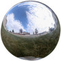 Lily's Home Gazing Globe Mirror Ball in Silver Stainless Steel. (8 Inch)