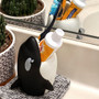 Lily's Home Fun Toothbrush Holder for Kids - Children's Bathroom Storage Organizer for Toothpaste and Toothbrushes. Also Great Holder for Pens, Pencils and Markers (Whale)
