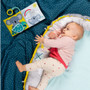 Taf Toys Where is Joey Book, Peek-a-boo Lift the Flap Interactive Soft Baby Book, Early Education Crinkle Activity Book with Textures and Baby Safe Mirror, On-The-Go Parent and Baby's Travel Companion