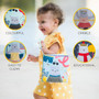 Taf Toys What Does Paul Wear Book, Interactive Soft Pages Sensory Book, Early Education Crinkle Activity Book with Textures and Baby Safe Mirror, On-The-Go Parent and Baby's Travel Companion