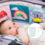 Taf Toys Koala Clip on Pram Baby Soft Book, Double Sided Book with Contrast Colors, 3D Activities and Textures, Tummy Time Play, Cot and Pram use, for 2 Developmental Stages. Infant Travel Companion