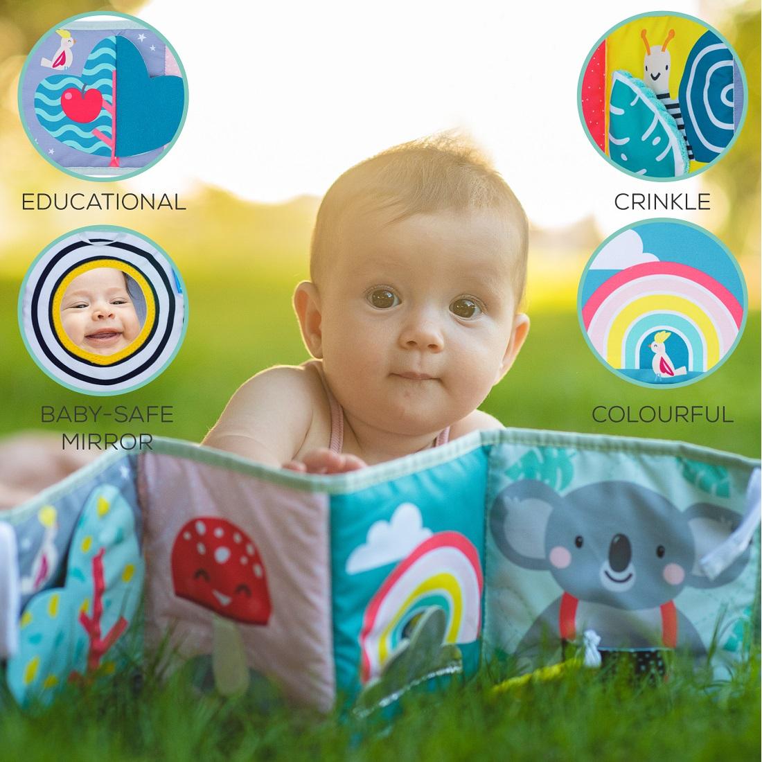 Libro con clips Koala Taf Toys 20 Alfombras de juego y ...