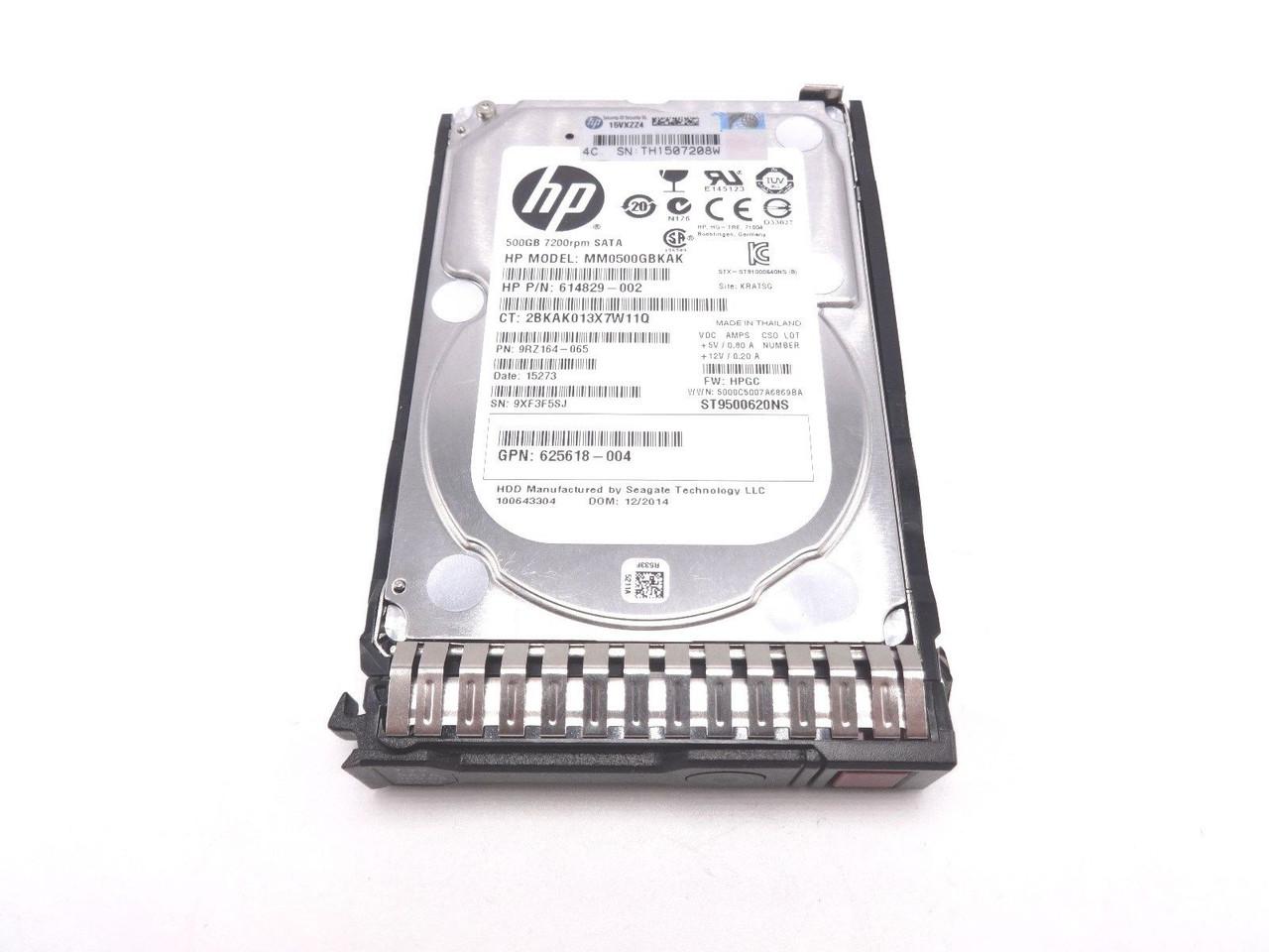 HP 656107-001 500GB 6G 7.2K 2.5IN SATA MDL hard drive