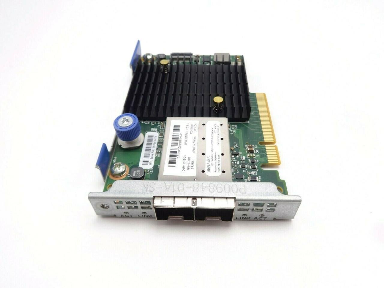 HP 764460-001 10GB 2Port Flex Fabric 556FLR-SFP +FIO Adapter Card