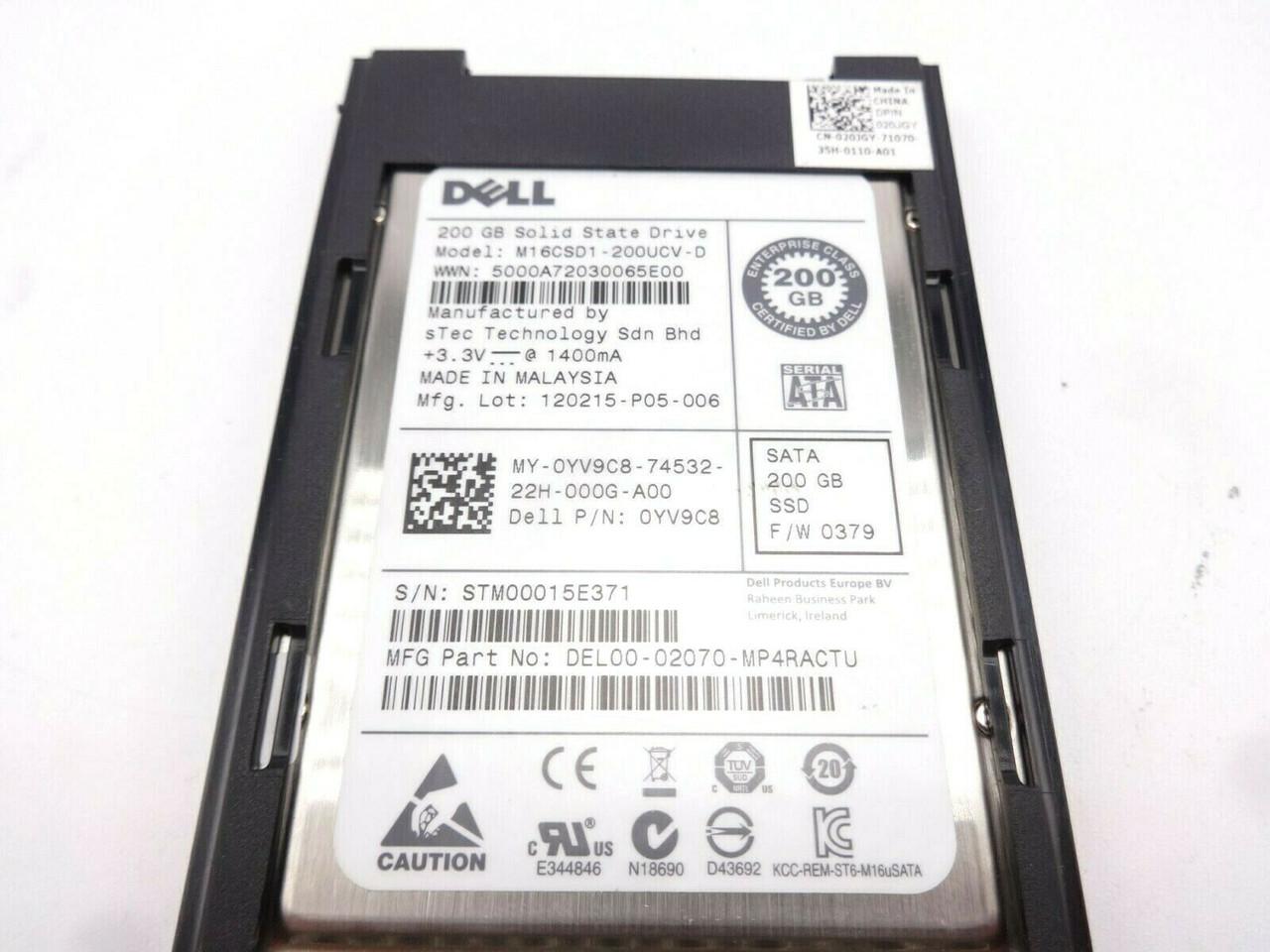 Dell YV9C8 200GB uSATA MLC SSD Solid State Hard Drive