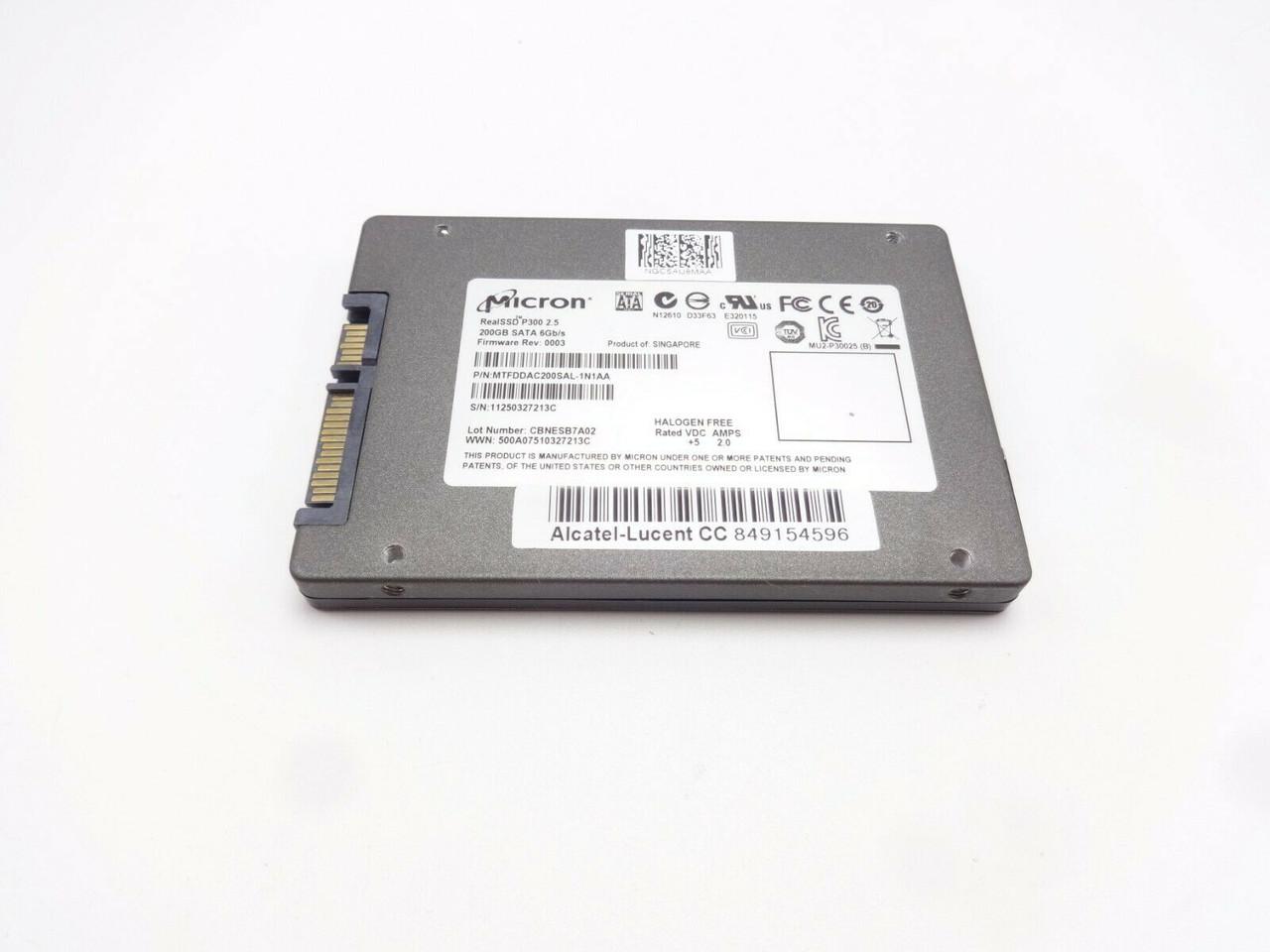 Micron MTFDDAC200SAL-1N1AA 200GB SATA 6Gbps 2.5 Solid State Hard Drive