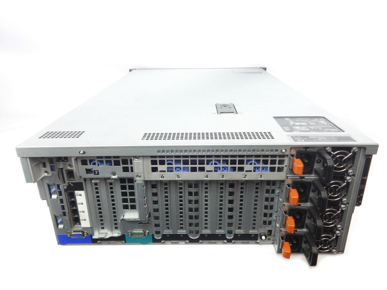 Dell Poweredge R910 4 Bay Server Back