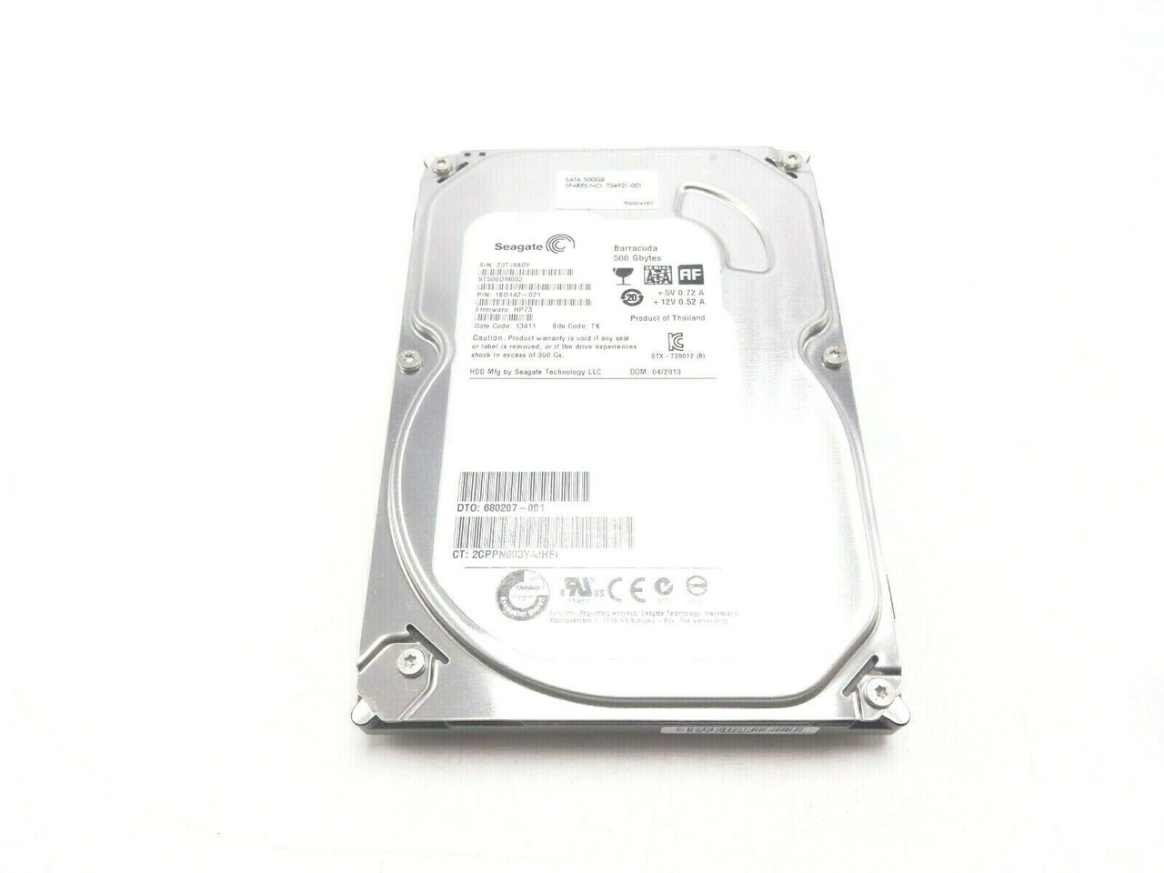 HP 704921-001 500GB SATA 7.2K Hard Drive