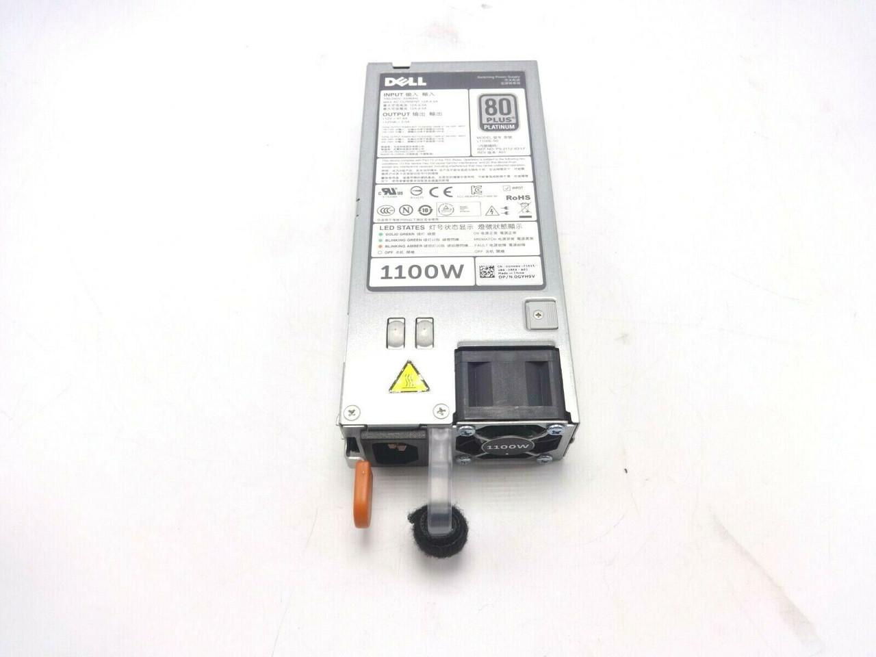 Dell GYH9V 1100W Power Supply R620/R720/R720XD 38GYJ-SUB L1100E-S0 PS-2112-4D-LF