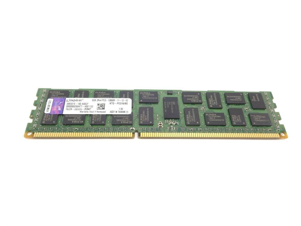 Kingston KTD-PE316/8G 8GB PC3 12800R 2Rx4 Server Memory Dimm