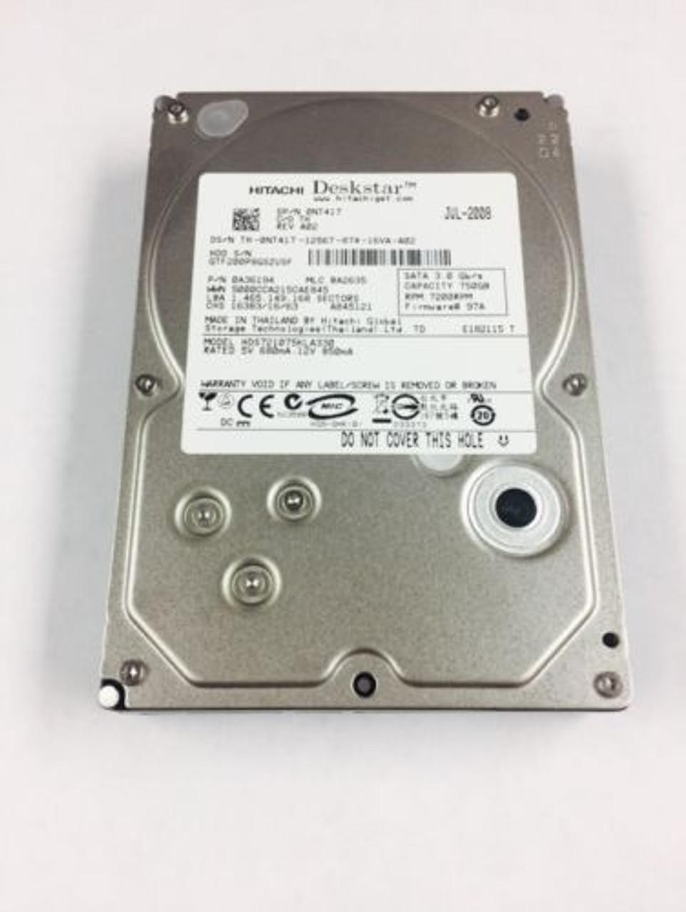 Dell NT417 750GB SATA 3GBPS 7200RPM 3.5