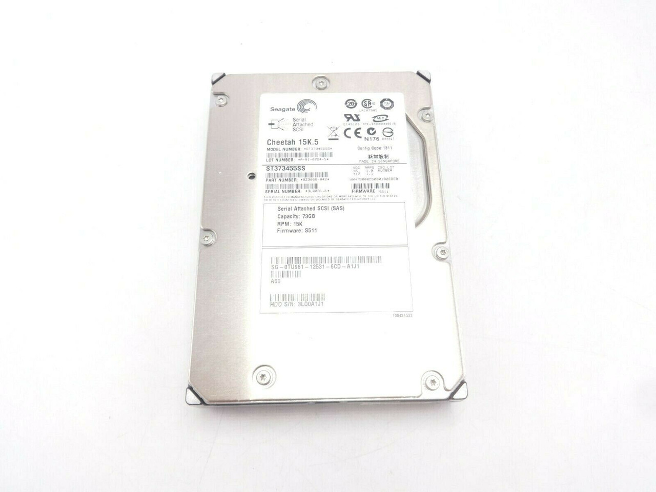 Dell TU961 73GB SAS 15K 3.5 3GBPS