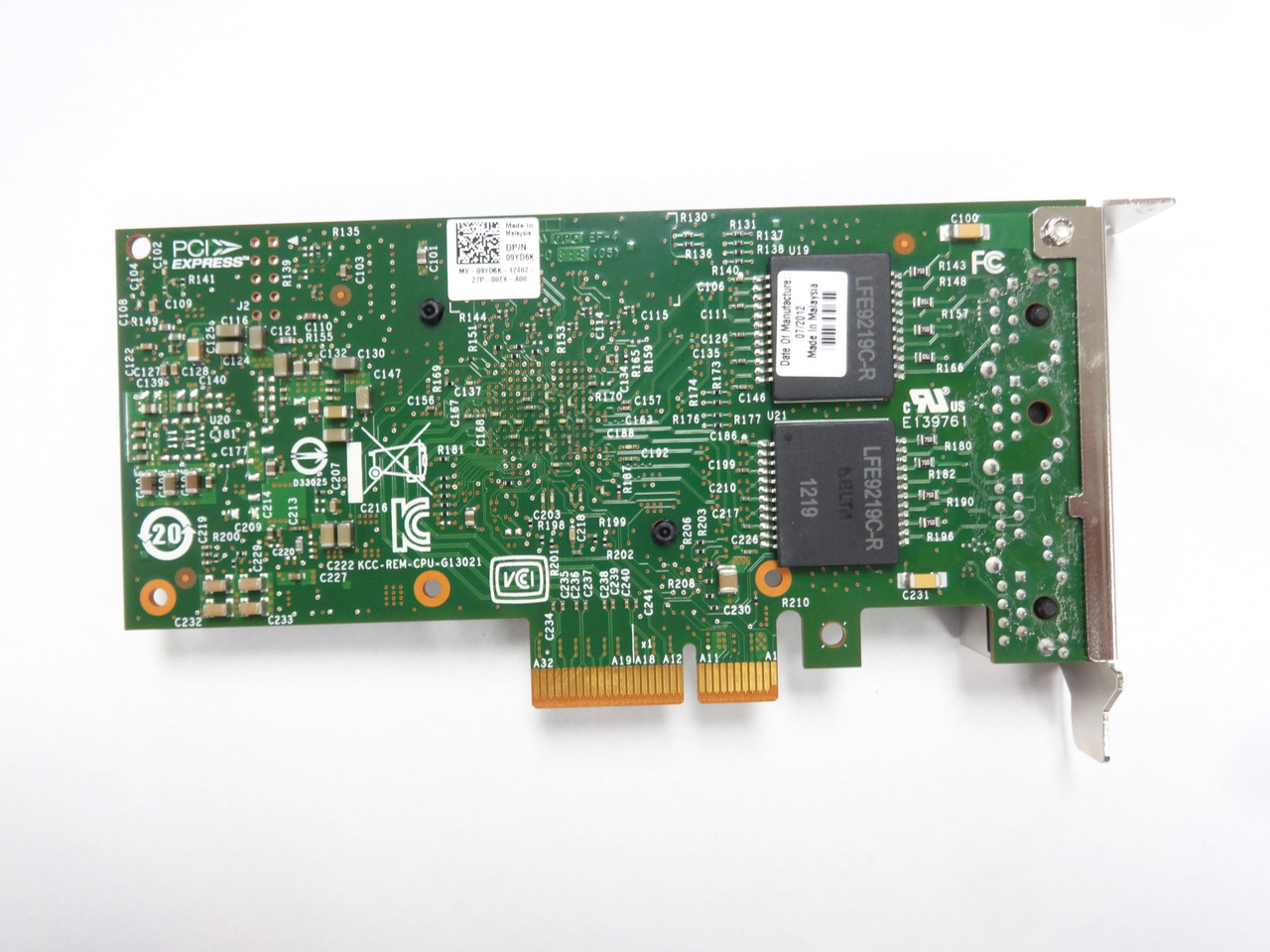 Dell Intel 9YD6K I350-T Quad Port NIC PCI-E 10GB Network Card