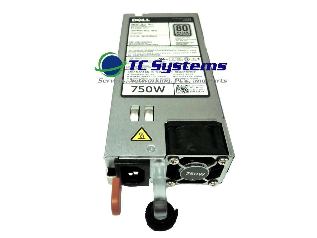 Dell F9F51 Poweredge R620 R720 750W power supply